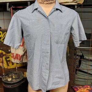 Button Up Mailman's Short Sleeve Shirt Work Wear